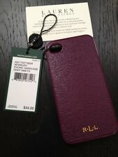 NEW IN BOX RALPH LAUREN IPHONE 4 4S HARD CASE IN DEEP AMETHYST RET. $34.00
