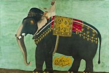 Nobleman on a Terrace Islamic Art 12x7 Inch Print