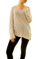 Sundry Women's Casual Loose Long Sleeve Top White US 1