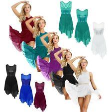 US _ Lyrical Women Ballet Dance Dress Gymnastics Leotard Contemporary Costume