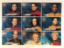 STAR TREK VOYAGER SEASON 1 SERIES 1 Complete SPECTRA-ETCH Chase Card Set S1-S9