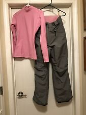 Polar Edge Gold Series Gray Winter Pants & Pink Under Armor Shirt Women's Med