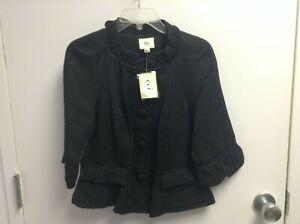 NWT ECI New York Women's Black Jacket Size 12