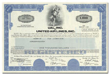 Ual, Inc, and United Air Lines, Inc. Bond Certificate
