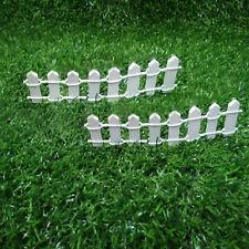 10Pcs Mini Wooden Fence Fairy Garden Miniature Landscape Home Ornaments Decor
