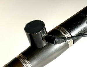 PiezoBarrel Clarinet Pickup Microphone, 65mm Barrel with adapter and 4m cable