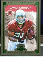 DAVID JOHNSON CARDINALS 2015 DIAMOND KINGS BROWN/GREEN BOARDER ROOKIE CARD HOT!!