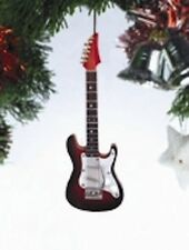 """ELECTRIC GUITAR BROWN & BLACK FADE 4"""" MUSICAL INSTRUMENT CHRISTMAS ORNAMENT"""