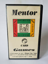 MENTOR CARD GAMES Vintage 1993 3x Mensa Style Fun Card Games EXCELLENT CONDITION