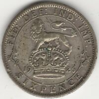 1926 George V Silver Sixpence | British Coins | Pennies2Pounds