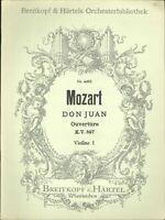 Mozart Don Juan Violin I Sheet Music 1966 Breitkopf Overture KV 527
