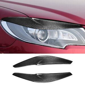 For Toyota Corolla 2013-16 Real Carbon Fiber Front Headlight Eyelid Eyebrow Trim
