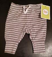 Circo Baby Boys Striped Gray Leggings pants, 0-3 Months. NWT.