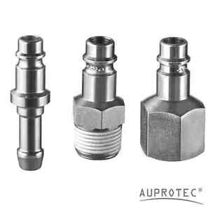 Druckluft Stecknippel Stecktülle Schlauchtülle Stecker Adapter Sicherheit Nippel