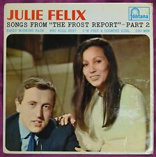 """Julie Felix – Song's From """"The Frost Report"""" – Part 2 7""""– TE 17494 – VG"""