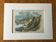 Civil War on the Mississippi River, Columbus, KY, 1862, Original Hand Colored
