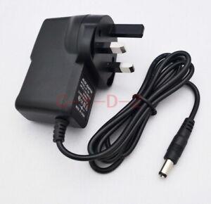 UK plug Power adapter DC 5V 1A 200mA 300mA 400mA 500mA 600mA 800mA 5.5mm x 2.1mm