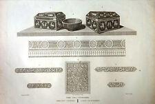 Arte musulmán, grabado original. Laborde 1806-20