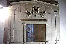 Barock Trumeau Wandspiegel Louis XV. Wandverkleidung Lyra mirror Spiegel Kamin
