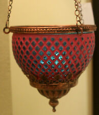 Turkish Style  Hanging Tea Light Candle Holder   ( PINK / BLUE  )  BRAND NEW