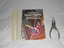 J Cree Fischer Piano tuning book & tools Maun industries