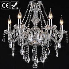 6 Arm Crystal Chandelier Clear Crystal Ceiling Lighting for Living Room Bedroom