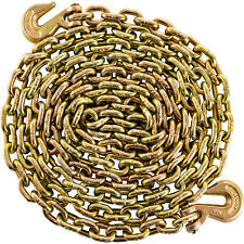 "Tow Chain 3/8"" 21ft Grade 70 Heavy Duty with Safety Grab Hooks"