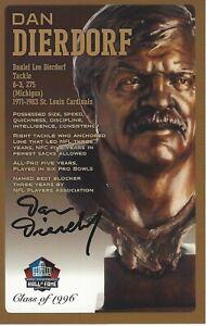 Dan Dierdorf St. Louis Cardinals  Football Hall Of Fame Autographed Bust Card