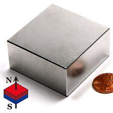 "CMS Magnetics® ULTRA STRONG N52 Neodymium Block Magnet 2""x 2""x 1"" - 1 Piece"