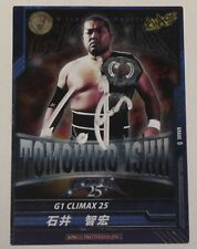 Tomohiro Ishii Signed 2015 New Japan Pro Wrestling Foil Card G1 Climax 25 Auto'd