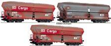Fleischmann 552316 3 freight wagon DB AG Optional Wheelsets for Märklin Free