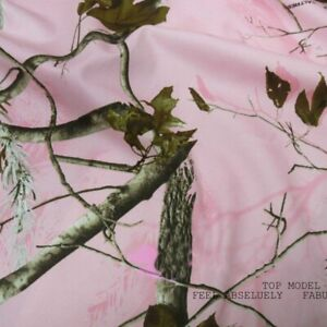 Real Tree Pink Camouflage Fabric for Outdoor Sports Hunting Training Clothing