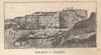 A0209 Otranto - Castello - Stampa Antica del 1907 - Xilografia
