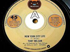 "TONY WILSON - NEW YORK CITY LIFE   7"" VINYL"