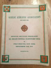 Original GAA Football Programme from the all Ireland 1947 match - signed!!!