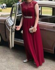 Little Mistress Prom / Bridesmaid Dress Size 10 Red Wine / Berry
