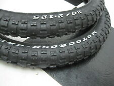 "New 20 x 2.125"" RWL Motocross Bicycle TIRES for Old School Mongoose GT BMX Bike"