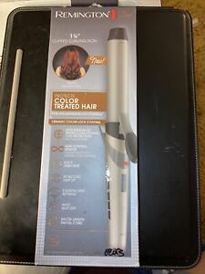 """New Remington 1 Pro 1 /14 """" Clipped Curling Iron Protects Treated Hair"""