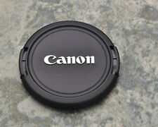 Genuine Canon EOS E 52mm Snap-On Front Lens Cap Chrome Logo 50mm 1.8 (#1445)