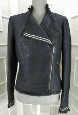 NWT Sz 4 Tommy Hilfiger Blue Zip Front Two Pocket Lined...