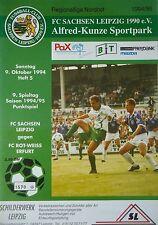 VFC Plauen Programm 1996//97 SC Charlottenburg