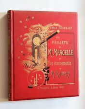 1885 Desbeaux Enfantina Cartonnage éditeur décoré Les Projets de Mlle Marcelle