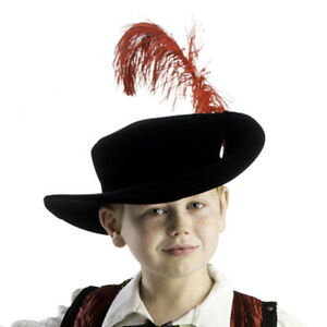Boys Musketeer Hat Red Feather By Dress America