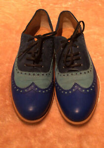 Cordings Blue Leather & Suede Leather Shoes 7.5/41 - Used Once Mint Condition