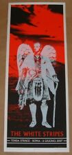 White Stripes Rob Jones Rome Italy Roma Concert Poster Signed Numbered 2007
