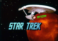STAR TREK 1969 Original Film Slide AND Color 5x7 Photo #85  Ship, Title & Planet