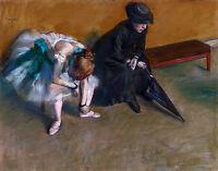 Edgar Degas - Waiting, Dancer Ballet, Ballerina, Museum Art Poster, Canvas Print