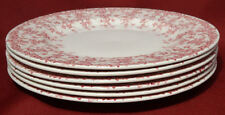 "Crown Ducal Early English Ivy (Joy) Pink  9"" Luncheon Salad Plates Dishes- NICE!"