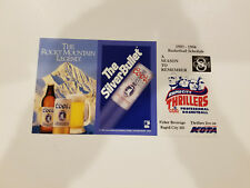 Rapid City Thrillers 1993/94 CBA Basketball Pocket Schedule - Coors Light