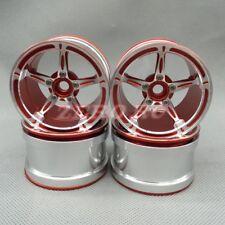 4PCS 2.2 Wheels for 1/10 RC Wraith TRX-4 5-Star ALUMINUM Beadlock Wheel Rim RED